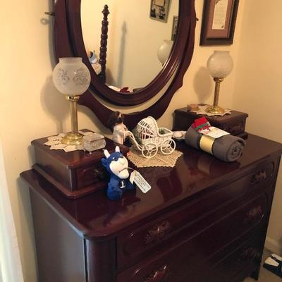 Lillian Russell dresser with mirror