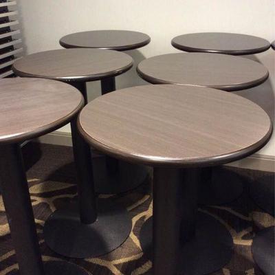 APB002 Six Pedestal Cocktail Tables