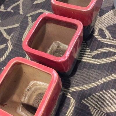 APB0285 Three Ceramic Planter Pots