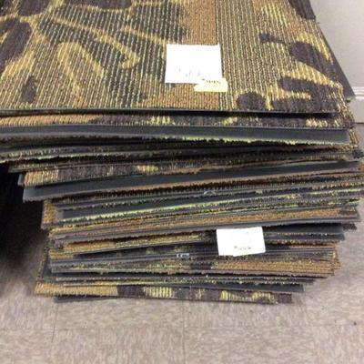 APB443 Hotel Grade Brown Floral Carpet Tiles