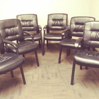 APB378 Six Black Chairs