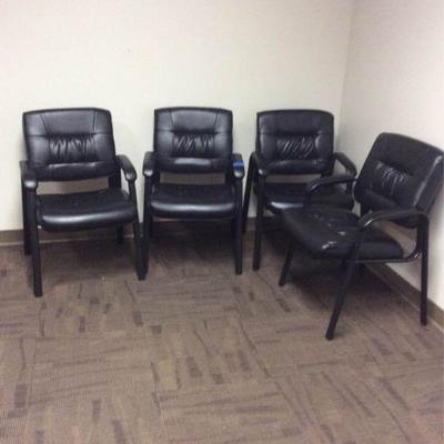 APB378a Four Black Chairs