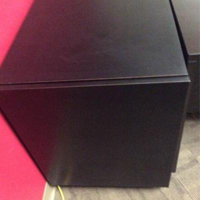 APB407 Single Wood Black Cabinet