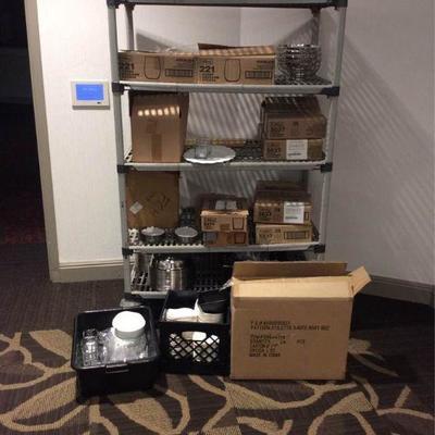 APB339 Shelf & Contents - Mystery Dish Lot