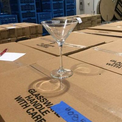 APB094 Five Cases New Luminarc 7.5 oz Martini Glasses