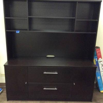 APB382 Wood Entertainment Center Storage Shelf