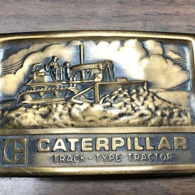 https://www.ebay.com/itm/114362201145LX2091:  Caterpillar Tractor Belt Buckle Auction Start after 08/19/2020 6 PM
