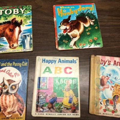 https://www.ebay.com/itm/114362058609LX2083: 5 Randy McNally Elf Books ASIS, Toby, Hunkydory!, The Owl and the Pussycat, Happy Animals...