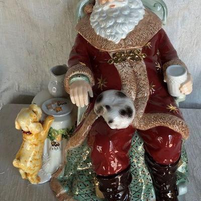 https://www.ebay.com/itm/114358324037WL7068: Waterford Holiday Heirlooms St Nicholas Cookie Jar 124840Buy-It_Now $50.00