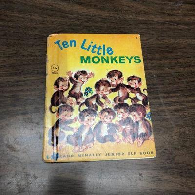 https://www.ebay.com/itm/124302492208LX2080: Ten Little Monkeys Randy McNally Elf Book 1953 ASISAuction Start after 08/19/2020 6 PM