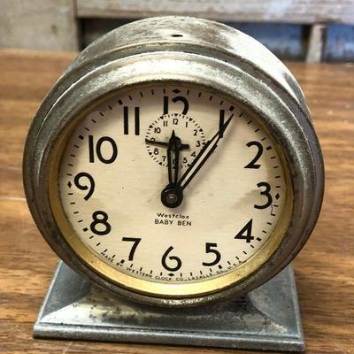 https://www.ebay.com/itm/114362284547LX2103: Vintage Westclox Baby Ben manual alarm clock ASIS - Not TestedAuction Start after...