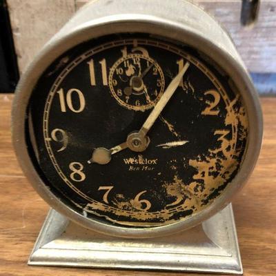 https://www.ebay.com/itm/124302663704LX2098: Vintage Westclox  Ben Hur manual alarm clock ASIS - Not TestedAuction Start after...