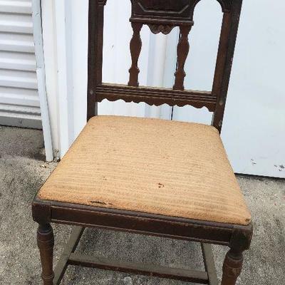 https://www.ebay.com/itm/124293790581LAN9712: Deco Cloth Seat Wood Chair Local PickupBIN$30