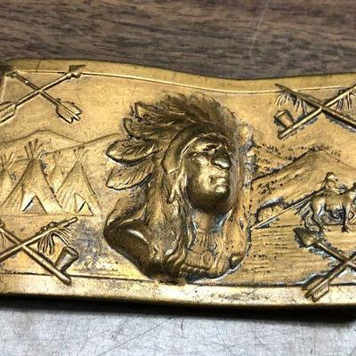 https://www.ebay.com/itm/124302608427LX2090: Native American Indian Brass Belt Buckle Auction Start after 08/19/2020 6 PM