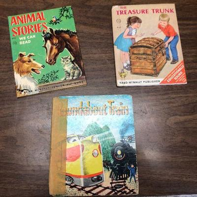 https://www.ebay.com/itm/114362047802LX2078: 3 Randy McNally Elf Books ASIS, Roundabout Train, Animal Stories We Can Read, The Treasure...