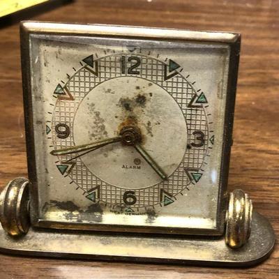 https://www.ebay.com/itm/124302667436LX2101: Vintage West German Brass manual alarm clock ASIS - Not TestedAuction Start after...