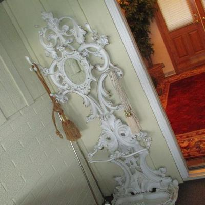 cast iron Victorian style hat rack/ hall tree.