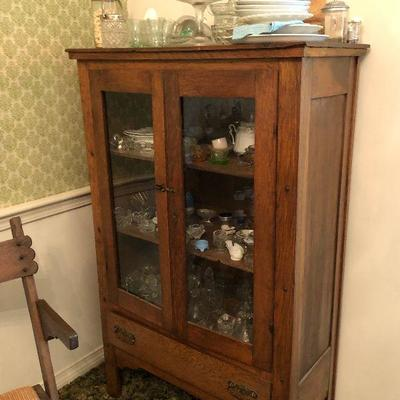 https://www.ebay.com/itm/124303946817	LX0008: Walnut Early American Display Cabinet Local Pickup	Buy-It-Now	 $195.00