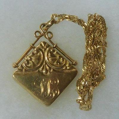 14 k Locket Necklace