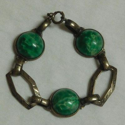 Sterling Stone Bracelet