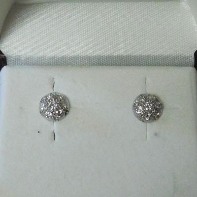 14 k Diamond Cluster Earrings