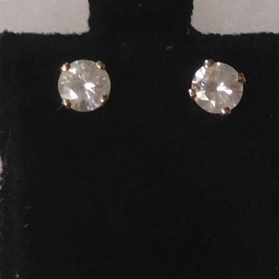 14 k Diamond Earrings
