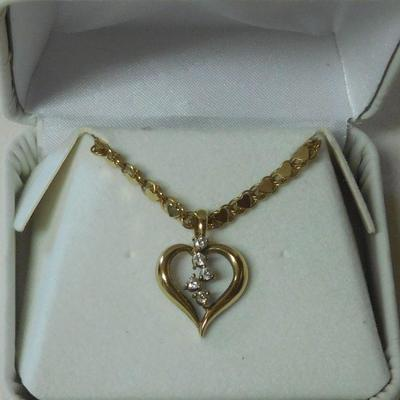 14 k Diamond Necklace