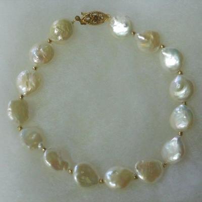 14 k Pearl Bracelet