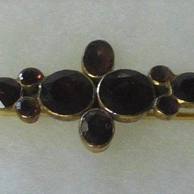 14 k Stone Brooch - Tested Gold