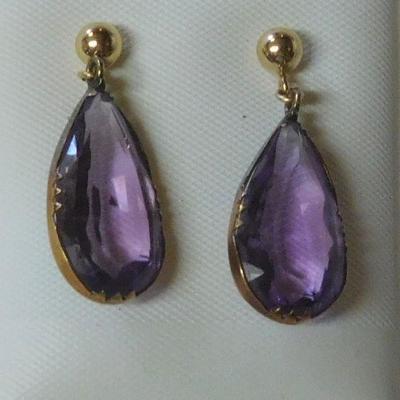14 k Amethyst Earrings