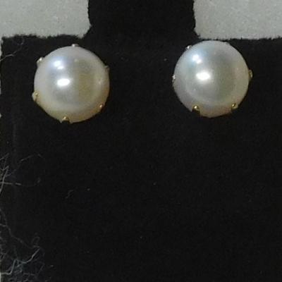 14 k Pearl Earrings