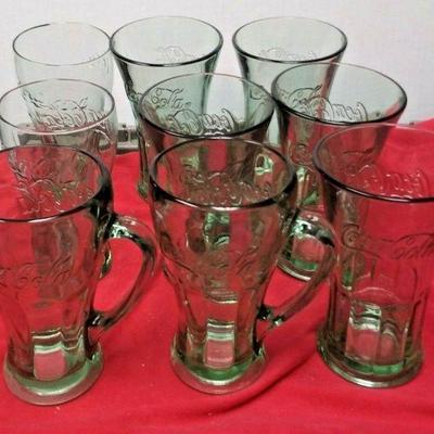 WL3099 LOT OF NINE GREEN TINT COLLECTORS COCA-COLA DRINKING GLASSEShttps://www.ebay.com/itm/114374219105Buy-It_Now $22.00