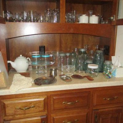 Old canning jars & more
