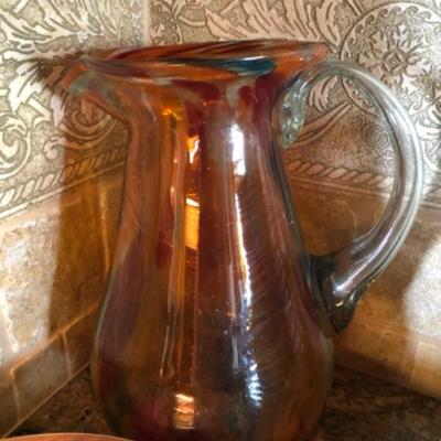 Glass colored pitchers