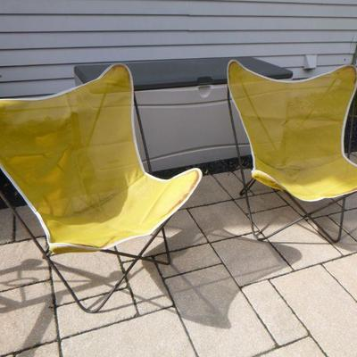 Pair of Jorge Ferrari-Hardoy style Butterfly wrought Iron Chairs