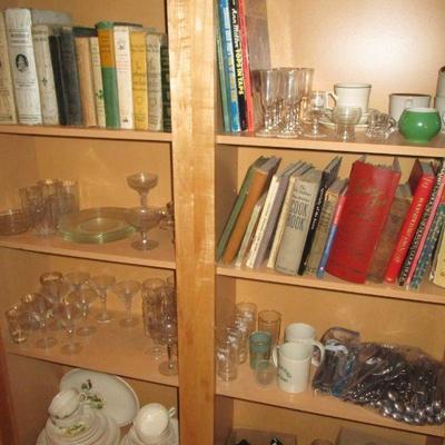 Cook books & glass