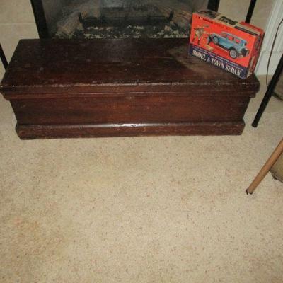 Antique tool trunk.