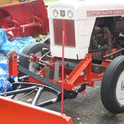Tractor with Snowplow attachment