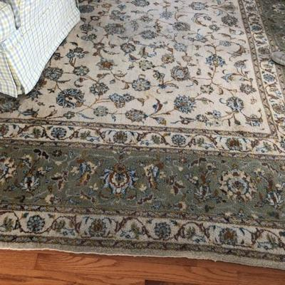 16-1/2 by 11 persian hand knotted rug.  Great condition