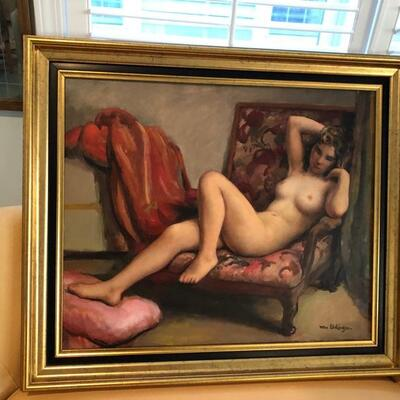 Nude by French Artist Maurice Ehlinger NU Along