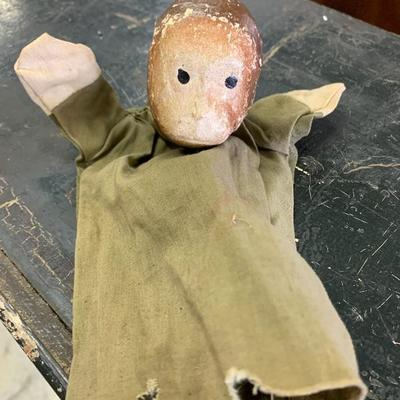 Very old monkey puppet