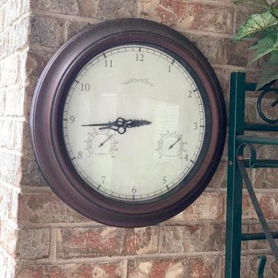 garden line clock
