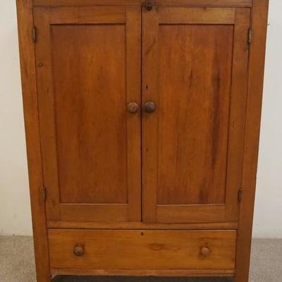 1005ANTIQUE 2 DOOR 1 DRAWER COUNTRY JAM CUPBOARD