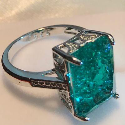 Gorgeous Crushed Emerald Ring