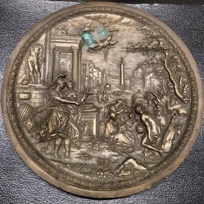 Early Bronze Neo-Classic Plaque