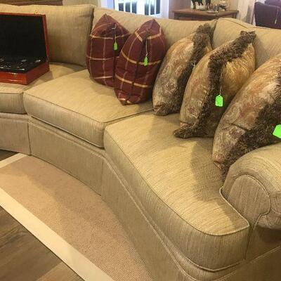 Henredon large curved sofa