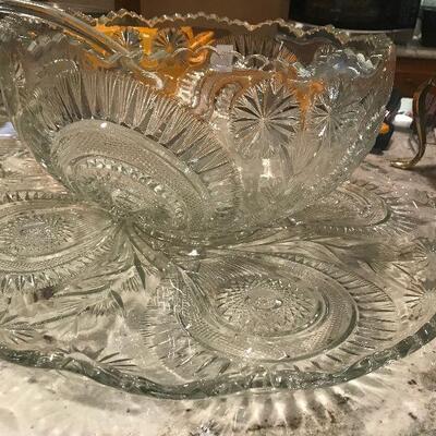 Antique Slewed Horseshoe Punch Bowl