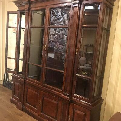 Breakfront China Cabinet, lots of storage