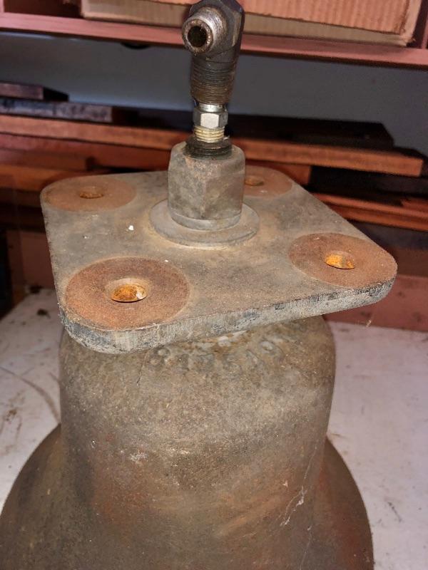 Graham White cast iron locomotive bell