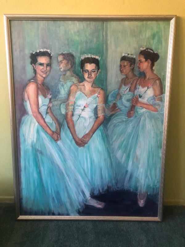 Original oil painting by La Jolla Artist Elizabeth Riis, 1923-2018